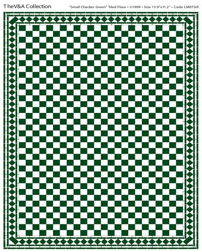 Green and white flooring