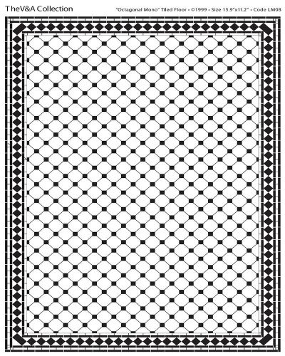 Black and White Octagonal tile