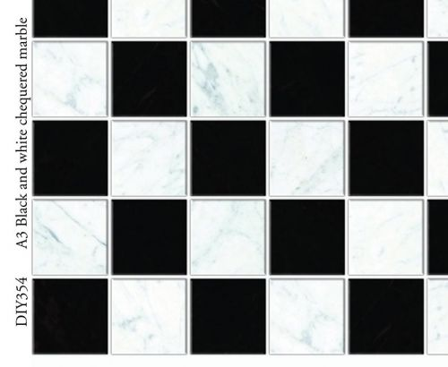 Black and white marble flooring