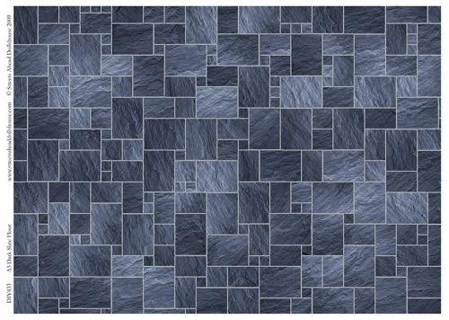 Dark slate flooring