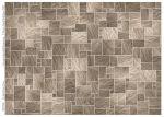 Dark stone tile flooring