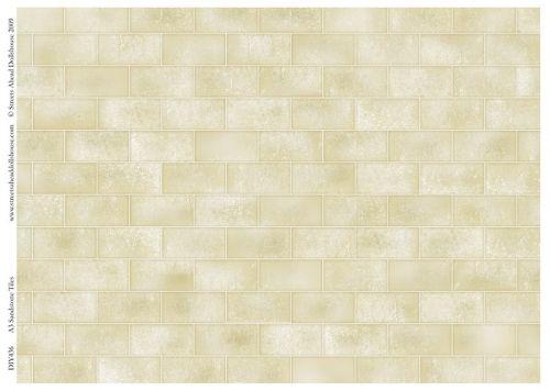 Sandstone tile flooring