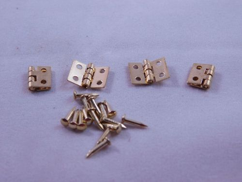 Small Brass Hinges ( 2 pair )