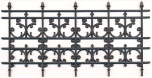 Black Plastic Fence Panel