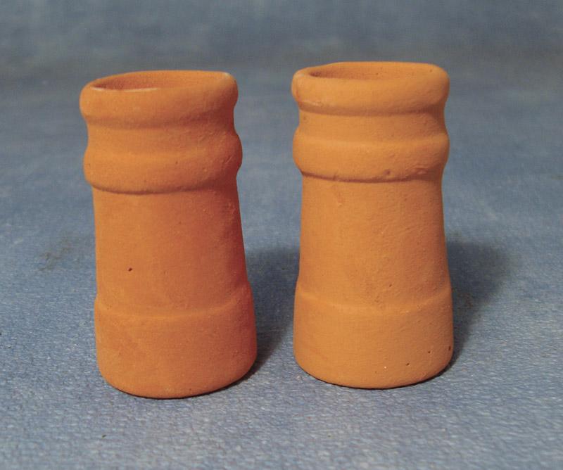Clay Chimney Pots Dolls House Miniatures